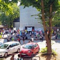 Demo gegen Schließung der Krankenpflegeschule Groß-Sand, 11.08.2020 (Foto: Dana Janßen)