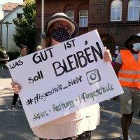 Demo gegen Schließung der Krankenpflegeschule Groß-Sand, 11.08.2020