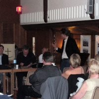 Pegelstand Flussschifferkirche - 4.6.2006