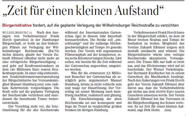 Bericht im Hamburger Abendblatt