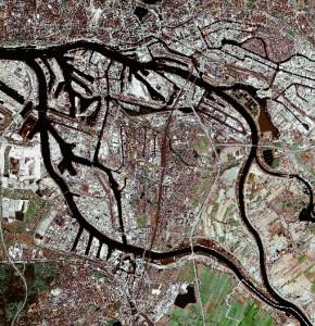 Satellitenbild-Elbinsel-Wilhelmsburg