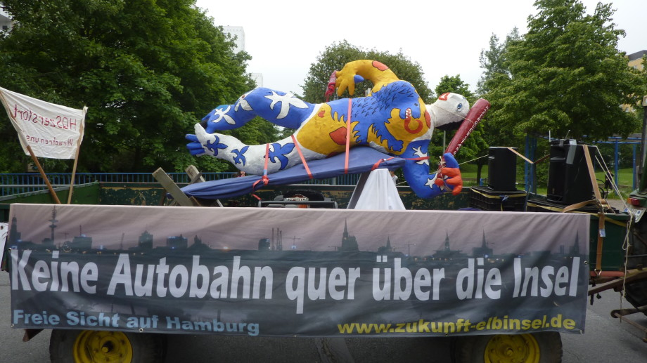 """Wilhelmsburga will """"keine Autobahn"""""""
