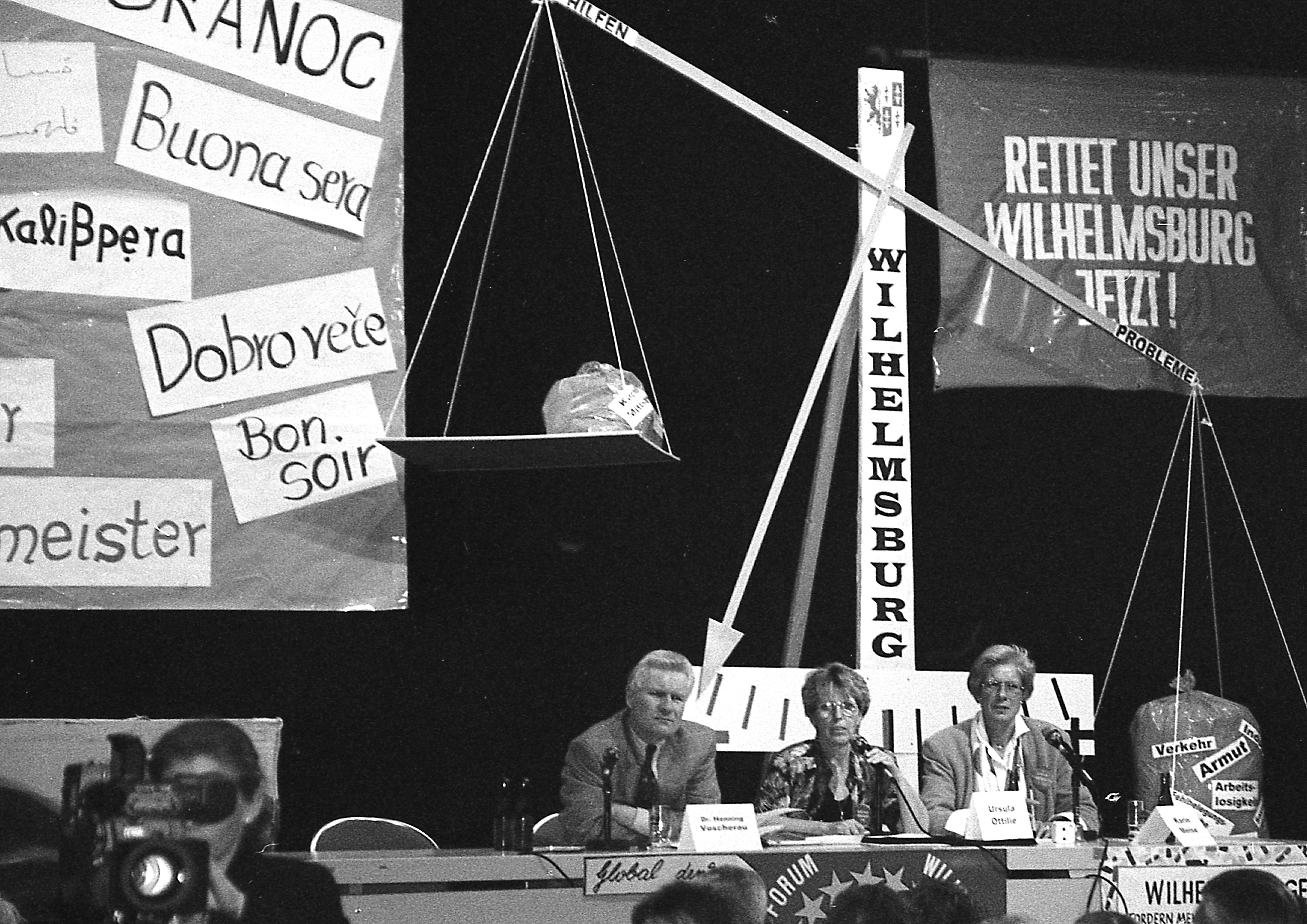 Einwohnerversammlung mit Henning Voscherau