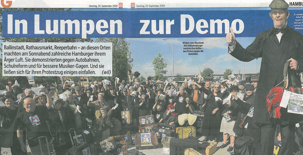 In Lumpen zur Demo