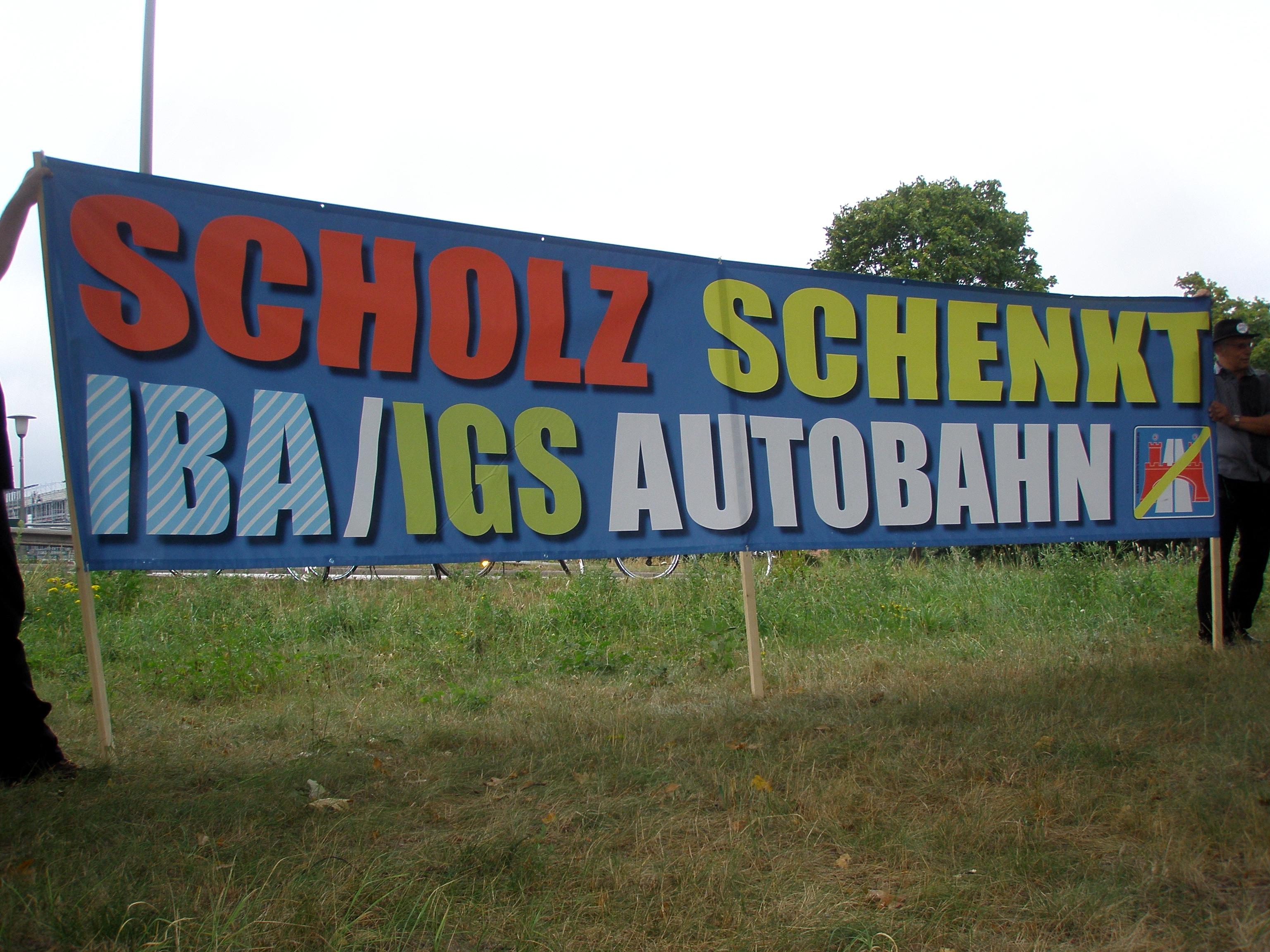 Scholz schenkt IBA/IGS Autobahnen