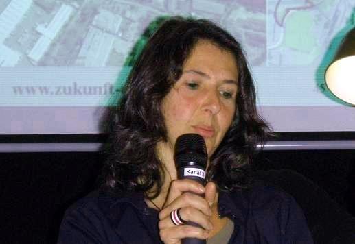 Christiane Tursi, Verikom, beim Pegelstand am 17.9.2013