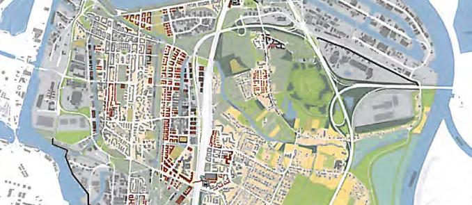 """Aus dem Rahmenplan der BSU zum """"Zukunftsbild Elbinseln 2013+"""""""