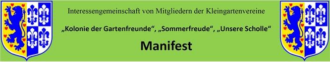 Manifest der Kleingärtner