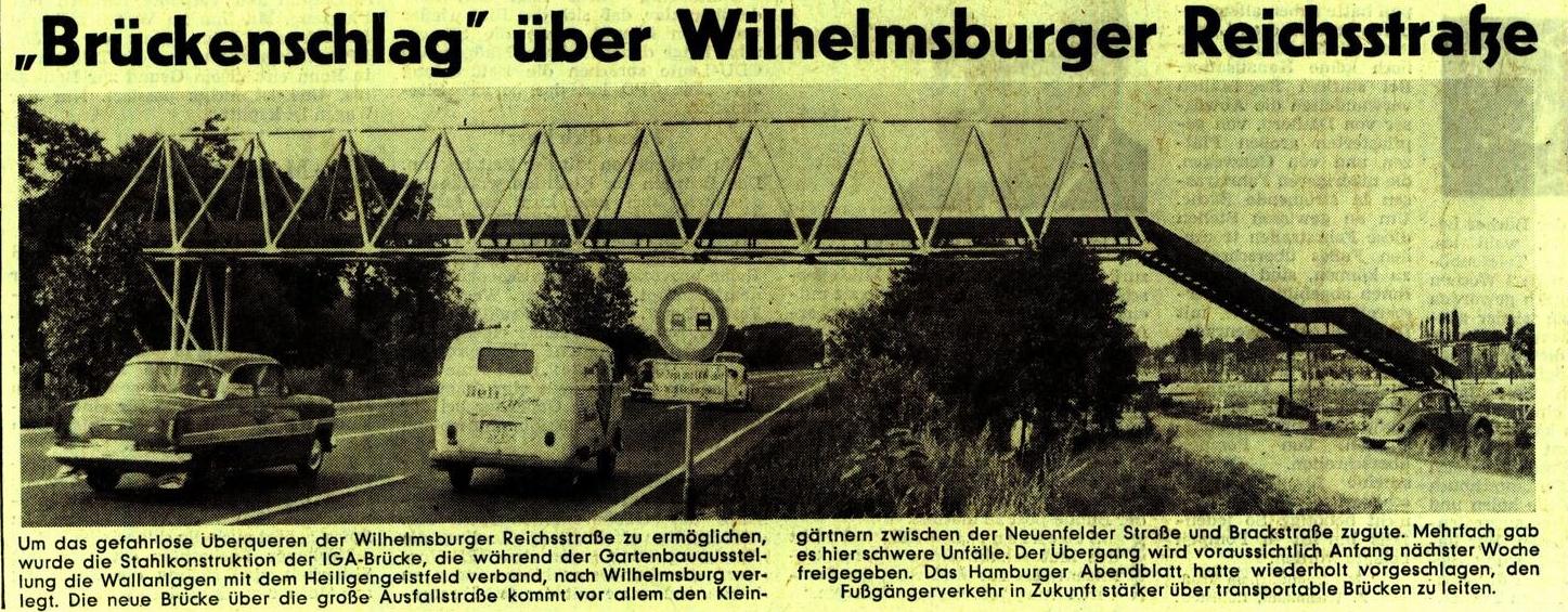 Brückenschlag mit IGA-Brücke 1973